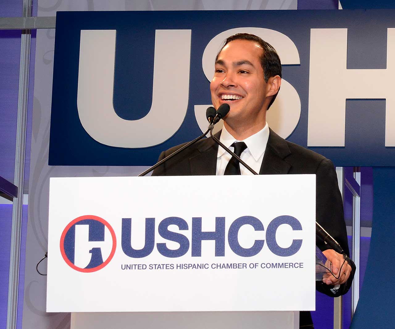 A speaker at the USHCC Convention